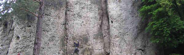 Weißenstein: Trotz Jahrhundertregen klettern gehen