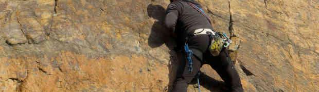 Schriesheim 28.12.2015 - Unfassbar wir klettern bei 15 Grad in der Sonne